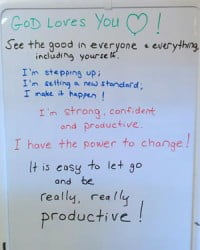 Productivity Messages White Board