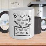 God loves me mug