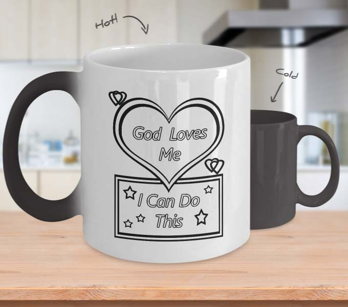 God loves me mug