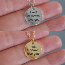 always love you necklace