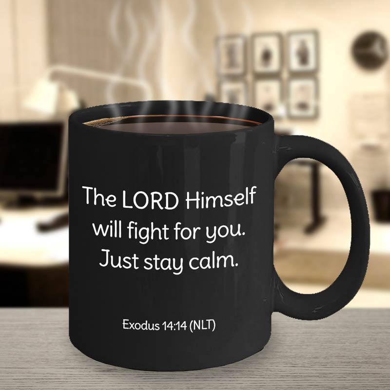 Black Mug - Exodus 14:14