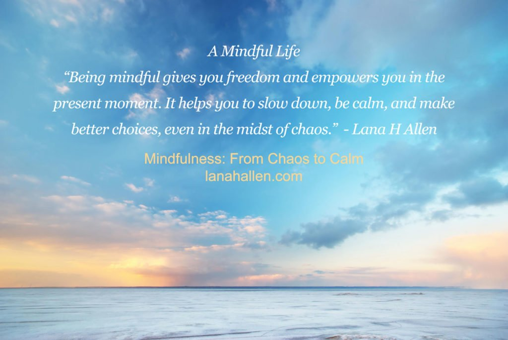 a mindful life quote