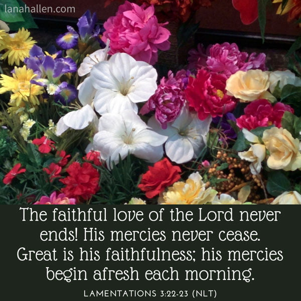 flowers and lamentations scripture